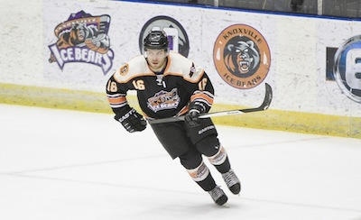 Vince Perreault skates for the Knoxville Ice Bears