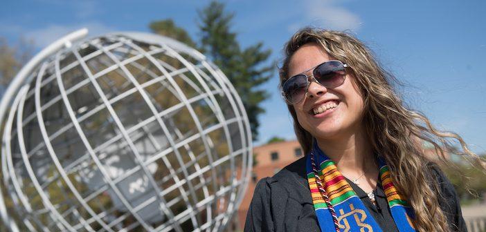Urban Education graduates at the globe