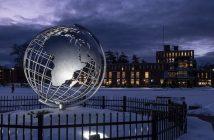 The Globe at night