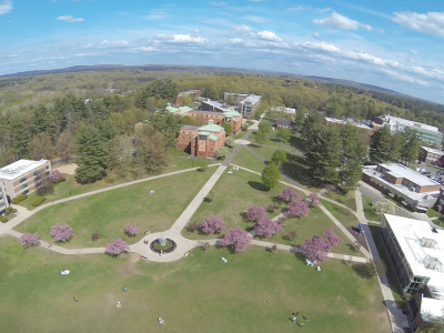 Arial of campus green