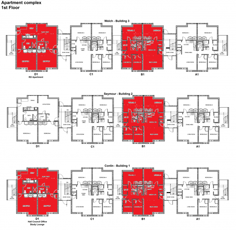 Apartment complex gallery westfield state university for Apartment complex building plans