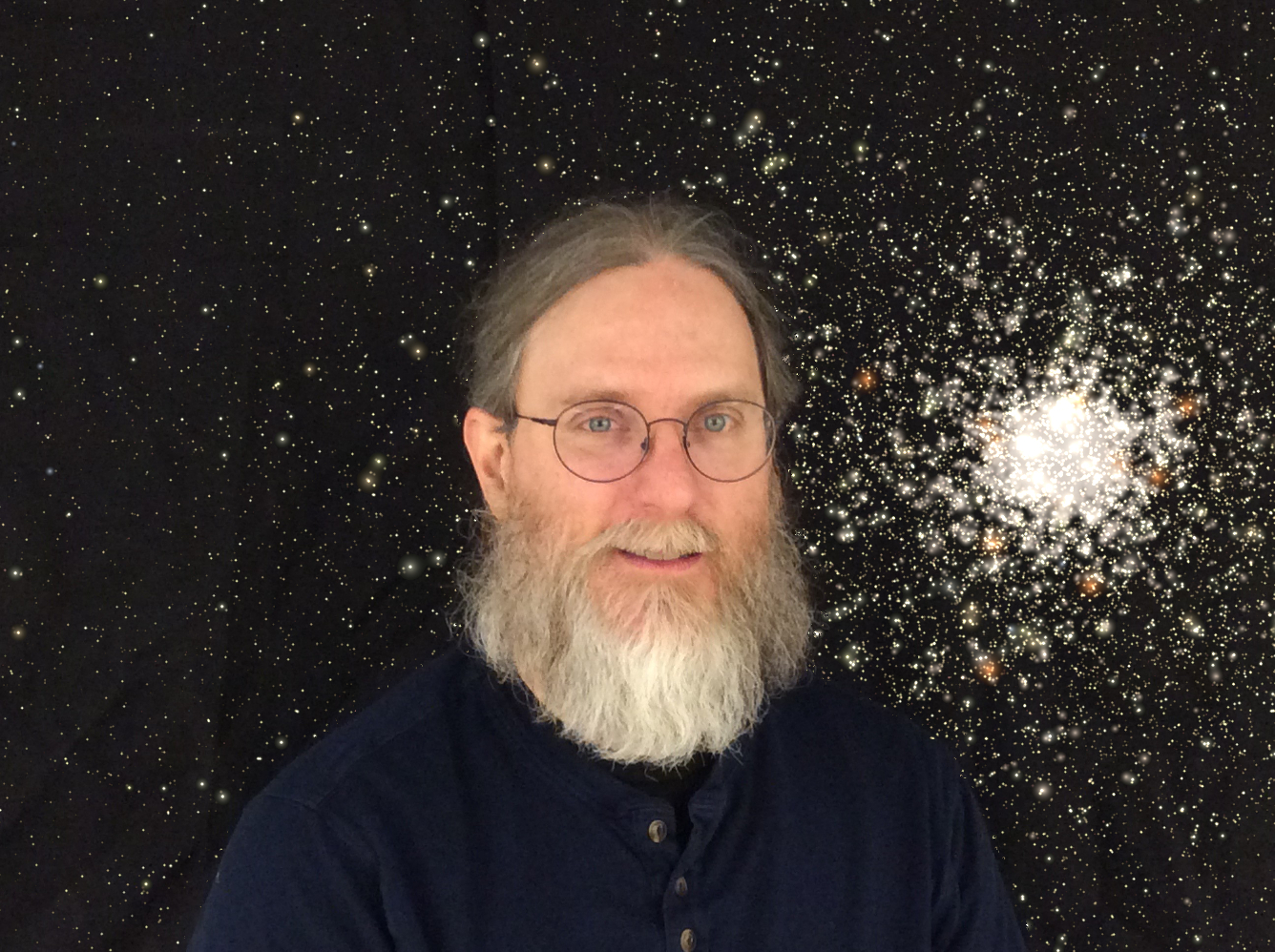 Richard Rees with globular cluster