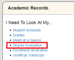Degree Audit Image