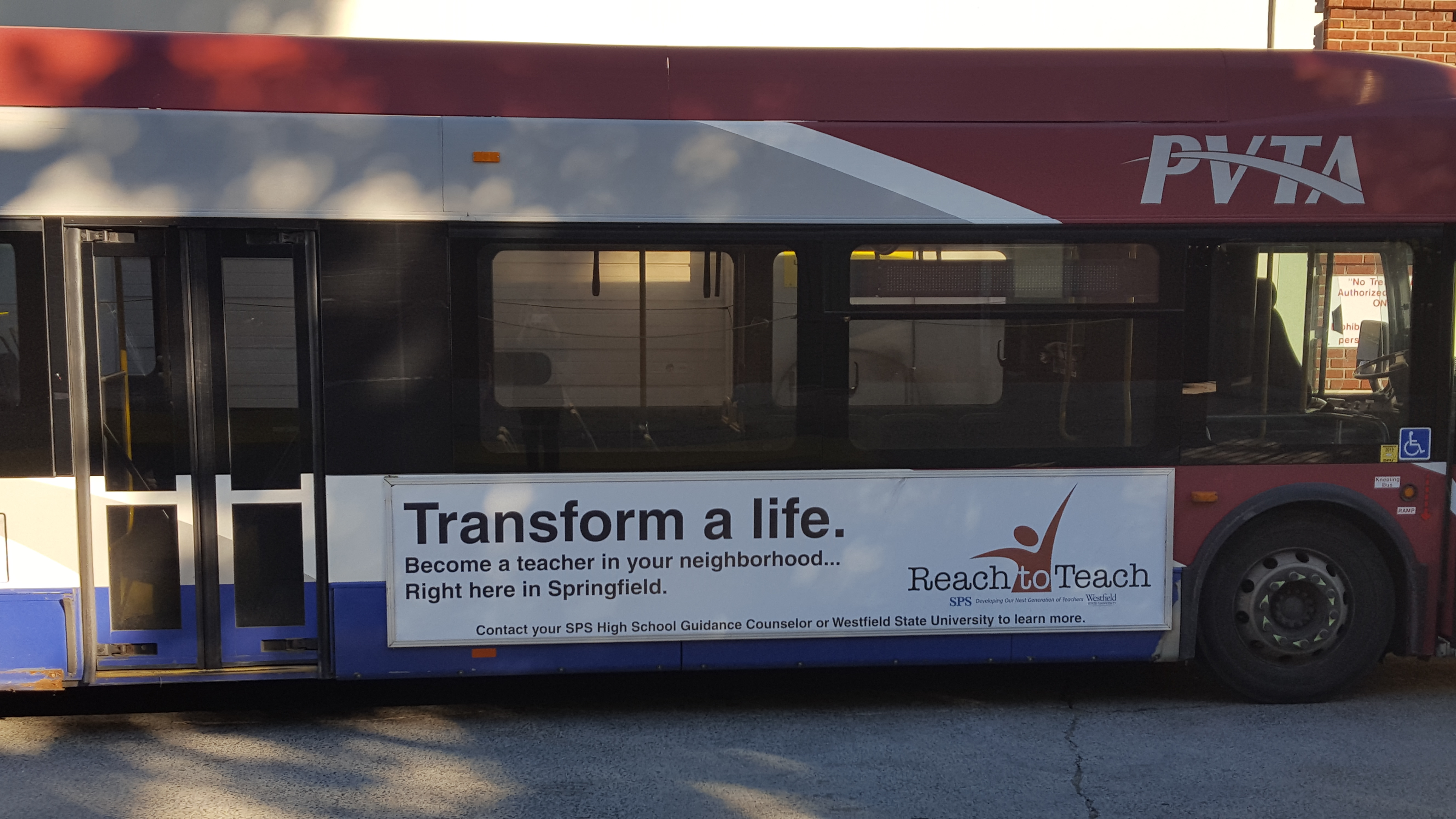 Reach to Teach Bus Banner