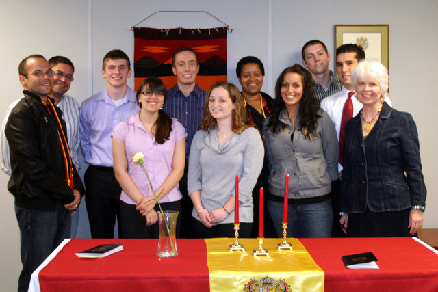 2011 Induction Ceremony for Sigma Delta Pi