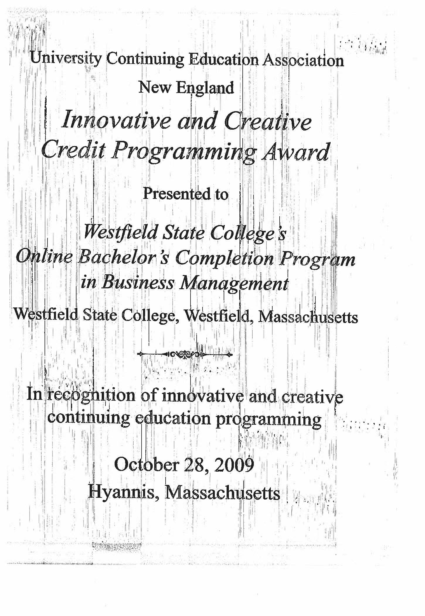 UCEA award